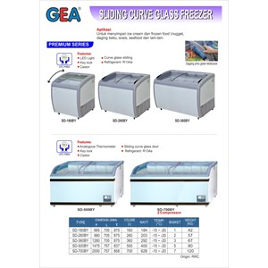 Sliding Curve Glass Freezer (Alat Alat Mesin)