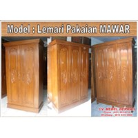 Lemari Pakaian Model MAWAR 1