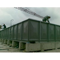 Distributor TANGKI PANEL FIBERGLASS 100 m3 (100 kubik)  Kota Pekan Baru - Fiberglass Cloth 1