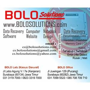 RECOVERY DATA HARDDISK SURABAYA MURAH By CV. BOLO SOLUTIONS