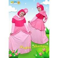 Jual Gamis Dan Jilbab Anak Karakter Putri Bunga Pink