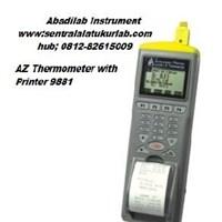 AZ Thermometer with Printer 9881 Abadilab Instrument