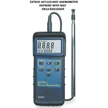 EXTECH 407123-NIST Anemometer HOTWIRE WITH NIST