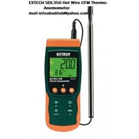 EXTECH SDL350  Hot Wire CFM Thermo Anemometer