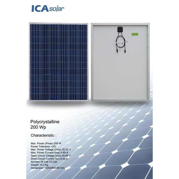 Panel Surya POLYCRYSTALLINE 200 WP ICA SOLAR