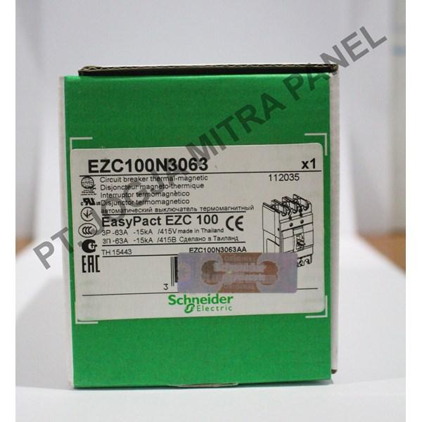 Mold Case Circuit Breaker MCCB 63A EZC100N3063 SCHNEIDER