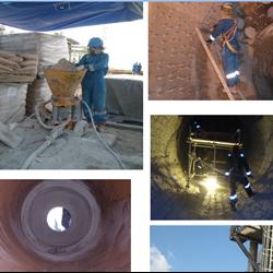 Installation Refractory Castable Gunning System