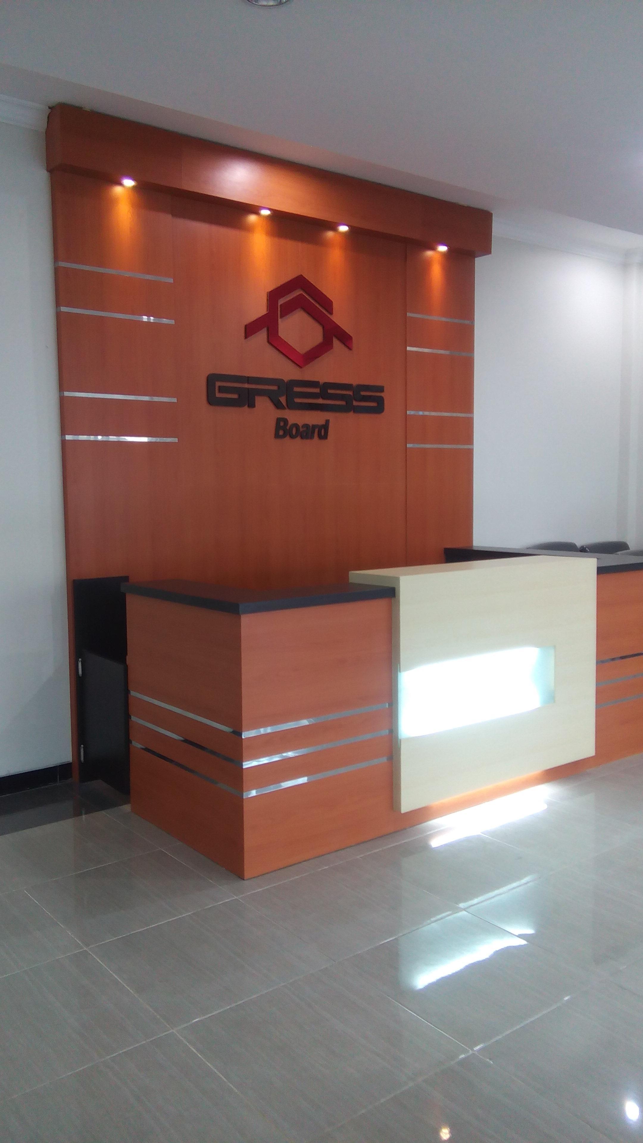 Jual Meja Resepcionis Harga Murah Surabaya Oleh Hari Interior Makan Amber