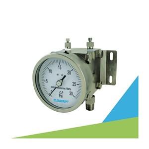 Dari TECHCROFT GDF Series Differential Pressure Gauge Alat Ukur Tekanan Air dan Gas  0