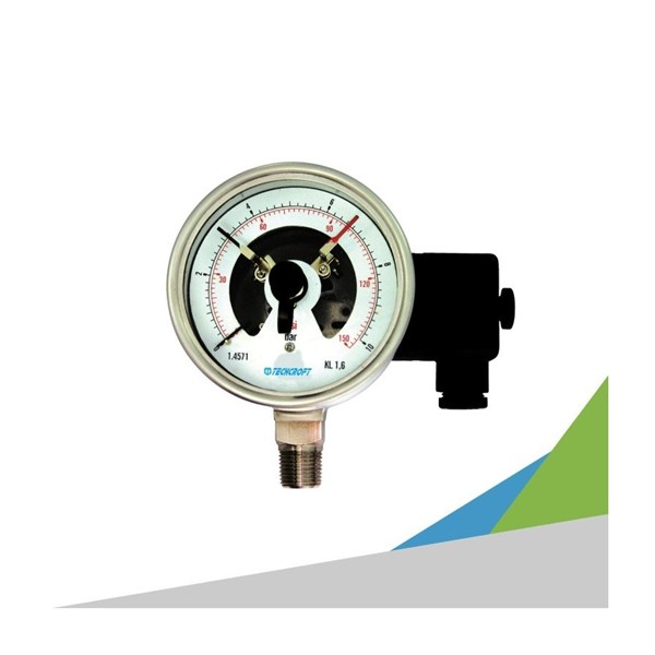 TECHCROFT GE Series Electric contact Switch Pressure Gauge