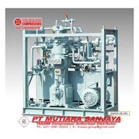 Jual TANABE Oil Free Booster Gas Compressor  Pressure up to 196 Bar. Model: GOS GHOS TW Series 2
