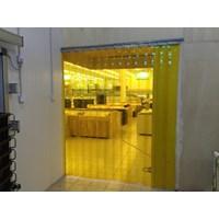 Tirai Plastik Kuning PVC