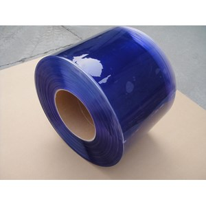 pvc strip curtain blue clear 0853 1003 7507