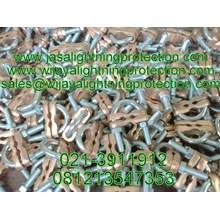 Aksesoris Kabel Lainnya Clamp Grounding tipe U-bolt One Way Kabel BC 120mm