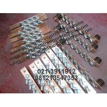 Kabel Tembaga Rail Copper Jalur 35mm Jasa Lightning Protection