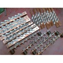 Aksesoris Listrik Rail Copper Jalur 150mm Jasa Lightning Protection