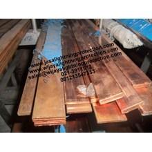 Rail Copper Jalur 240mm Aksesoris Listrik Jasa Lightning Protection