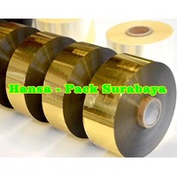 Cooding Foil Ribbon Tape Warna Gold