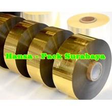 Cooding Foil Ribbon Tape Warna Gold
