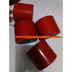 Roda Hand Pallet Red PU ukuran 80x70