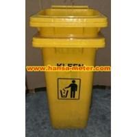 Tempat Sampah  120liter warna Kuning Nopedal  1