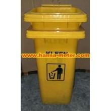 Tempat Sampah  120liter warna Kuning Nopedal
