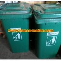 Jual Tempat sampah 240 Liter Non Pedal hijau 2