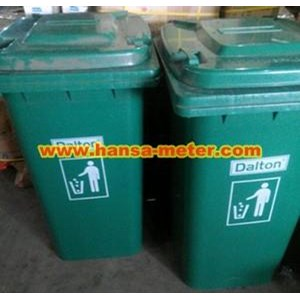 Tempat sampah 240 Liter Non Pedal hijau