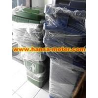 tempat sampah 240 liter warna biru dan hijau
