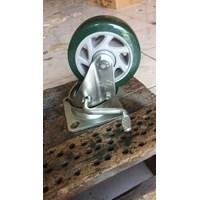 Roda endo PU 4 inc Double bearing Dengan REM 1