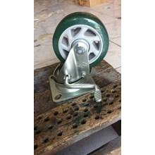 Roda endo PU 4 inc Double bearing Dengan REM