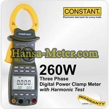 Clamp Meter 3 phase power meter 260W constant