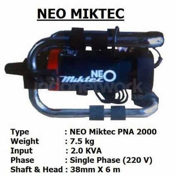VIBRATOR BETON ELECTRIC NEO MIKTEC PNA 2000