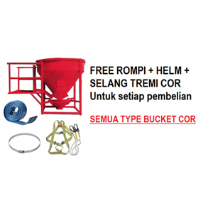 RENTAL CONCRETE BUCKET 0.8 - 1 KUBIK ( 800 - 1000 LITER )