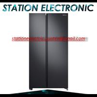 Samsung Inverter and Konerter Refrigerator Side By side 647 Liter RS62R5041B4