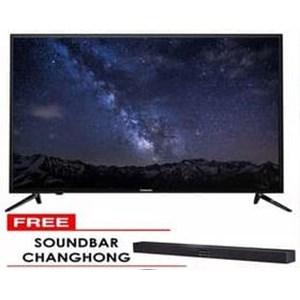 LED CHANGHONG DIGITAL TV 55E6000T Full HD free sounbar AS 1822 AX