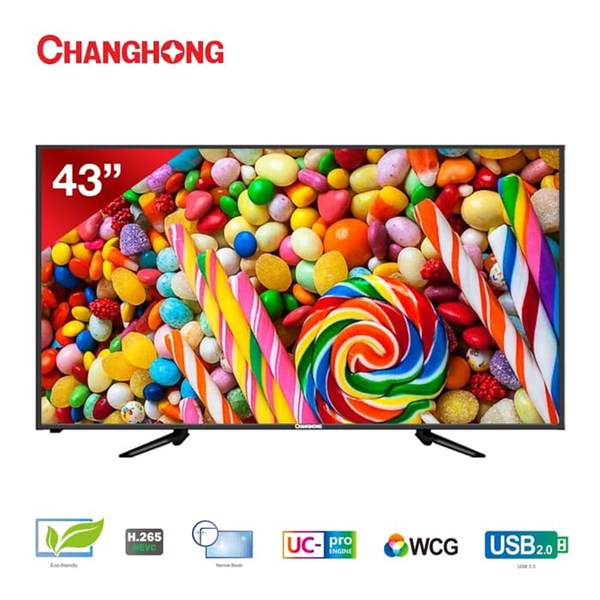 "TV LED Changhong 43"" Inch L43G3 ( Full HD /Nerrow Bezel / Black )"