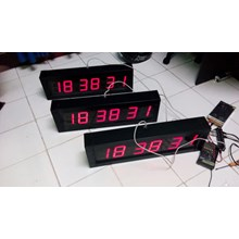 Ntp Digital Clock Jam Digital Gps Poe 4 Dan 6 Digit Display