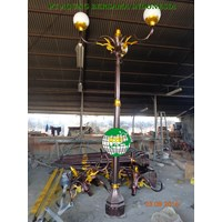 Tiang Lampu Taman Decorative Bougenvile 1