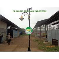 Tiang Lampu Jalan PJU Taman Minimalis Solar Cell Kebun Raya Bogor