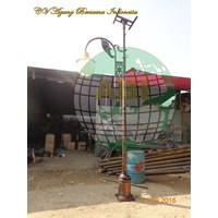 Garden Lights Solar Cell Pole