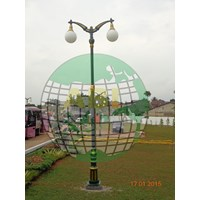 Antique PJU Garden Pole
