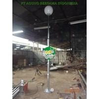 Tiang Lampu Jalan PJU Bulat Hotdip galvanis