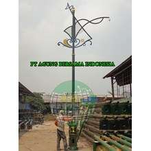 Tiang Lampu Taman Decorative Antik