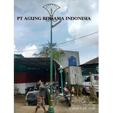 Tiang Lampu Taman Jalan All in One