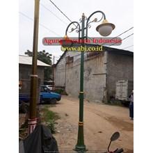 TIANG LAMPU TAMAN BULAT MURAH ABI