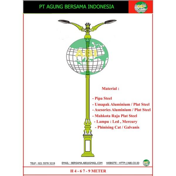 TIANG LAMPU DEKORATIF / Tiang Lampu Taman