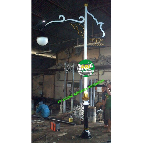 TIANG PJU BULAT / TIANG LAMPU TAMAN DEKORATIVE