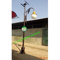 TIANG LAMPU ANTIK SOLAR CELL 3METER