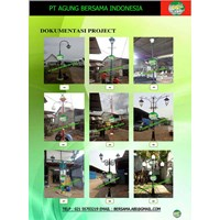 Tiang Lampu PJU Dekoratif Bengkulu